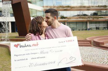 ¡Recién casados y con 5000 euros! Estos son los nuevos ganadores del sorteo de Bodas.net