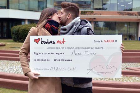 Celebramos la 50ª edición del sorteo de Bodas.net: ¡organizad vuestra boda con 5.000 euros!