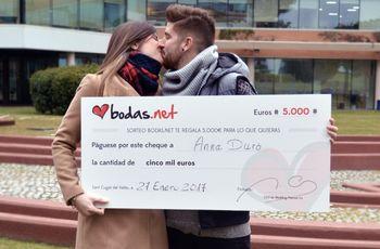 Celebramos la 50ª edición del sorteo de Bodas.net: ¡organizad vuestra boda con 5000 euros!