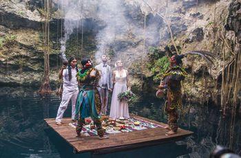 Boda por el rito maya: una ancestral ceremonia simbólica