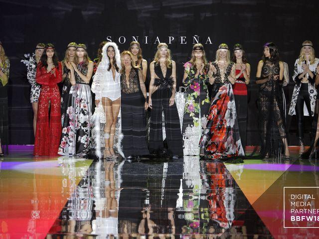 Vestidos de fiesta Sonia Peña 2019: inspiración setentera