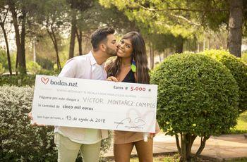 5000 euros para su sesión postboda. ¡Conoced a la feliz pareja ganadora del sorteo de Bodas.net!