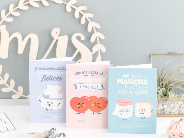 Las nuevas tarjetas Mr. Wonderful para Regalo Azul, de UNICEF, el mejor recuerdo para vuestros invitados