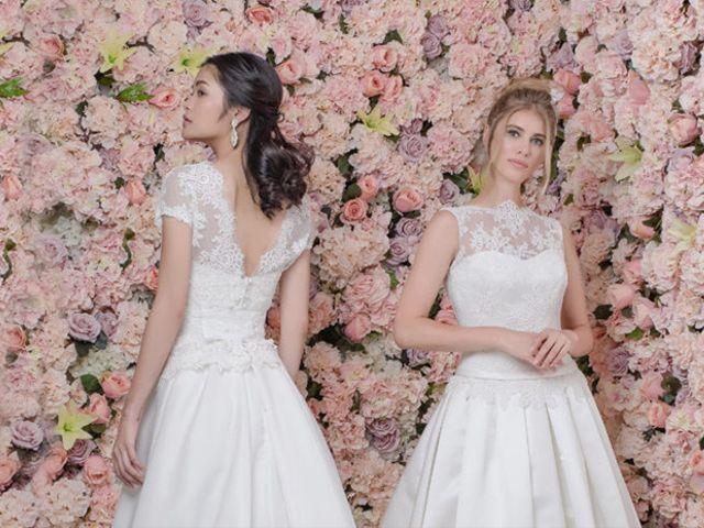 Romanticismo e inocencia en los vestidos de novia de Pour Un Oui by Cymbeline 2018