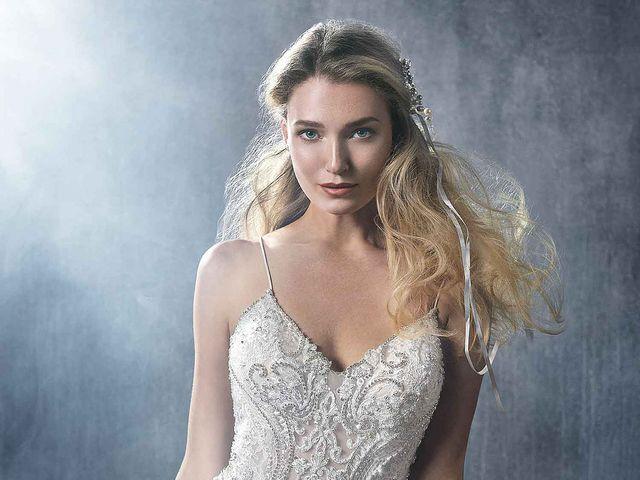Vestidos de novia Kenneth Winston 2018: brillo y elegancia