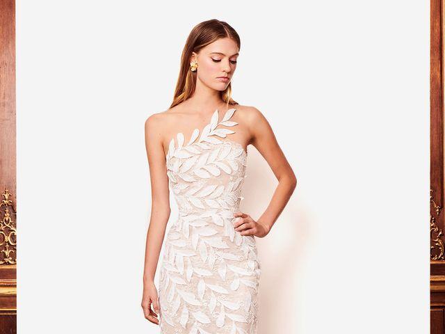 Glamur y modernidad en la colección de vestidos de novia Oscar de la Renta 2018