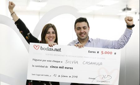 5000 euros para el banquete perfecto. ¡Conoced a los nuevos ganadores del sorteo de Bodas.net!