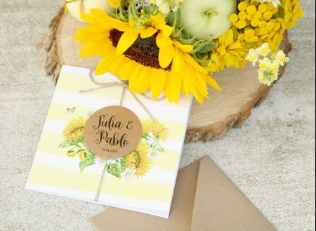 Invitaciones de boda en amarillo: ¡un gran acierto!