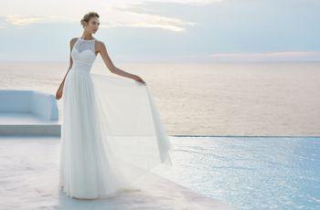 Vestidos de novia Aire Barcelona 2019: romanticismo y encanto en piezas únicas