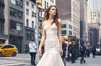 Vestidos de novia Monique Lhuillier 2018: variedad y color