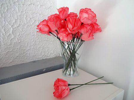 Flores de papel con filtros de café