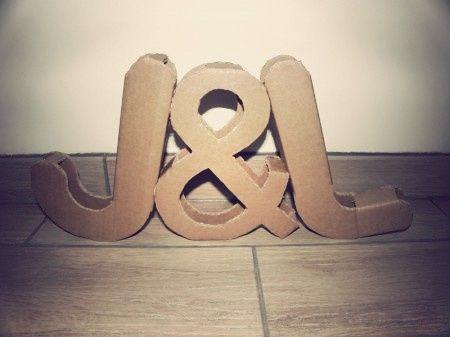 Letras XXL para la decoración de tu boda