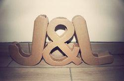 Letras XXL para la decoraci�n de tu boda