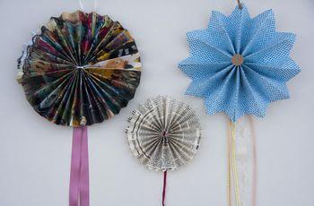 Rosetones de papel para la decoración de tu boda