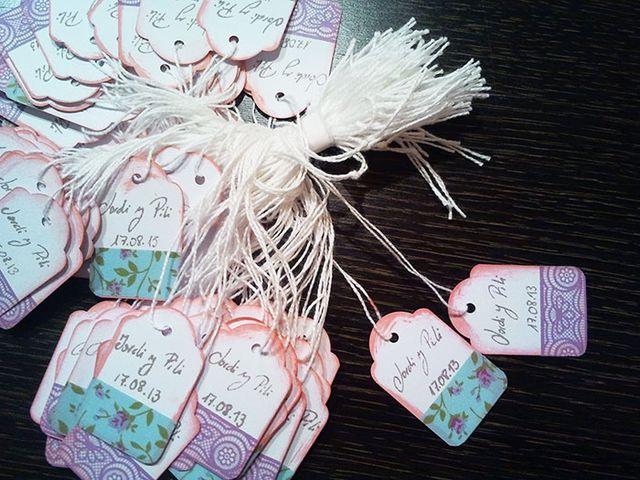 Etiquetas vintage para los detalles de boda