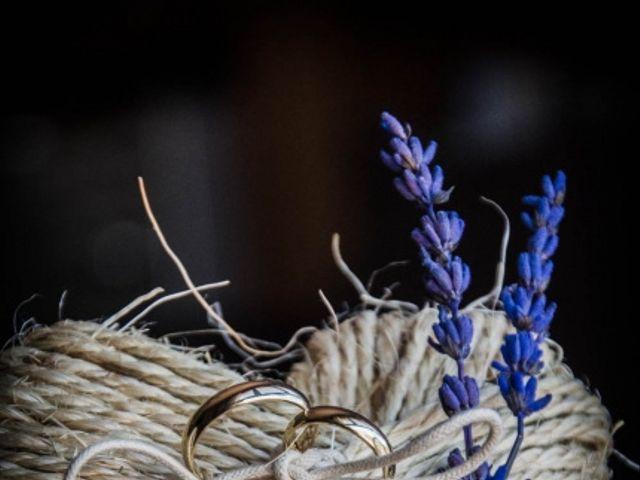 Porta alianzas para una boda rústica