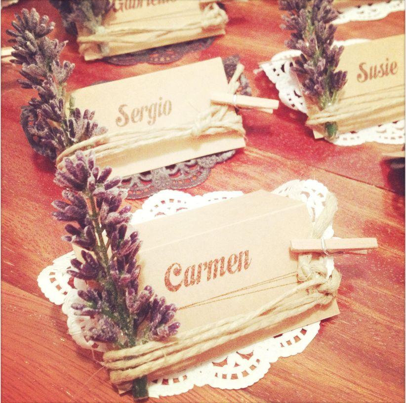 Tarjetas marca sitios para una boda en el campo - Sitios para bodas ...