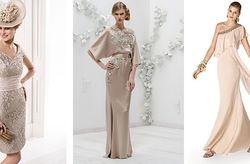 10 vestidos beiges para un look de invitada