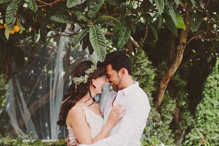 Eva y David, una boda total white muy familiar