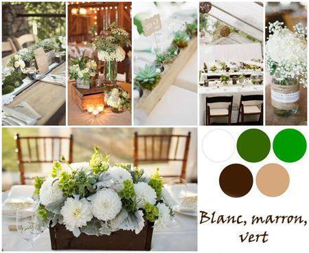 Tu boda en blanco, marrón y verde