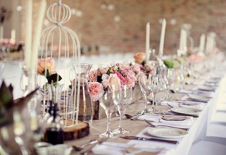 Decoraci�n para mesas de bodas vintage