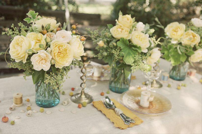 Flores El Elemento Ideal Para Tu Pastel De Bodas: Decoración Para Mesas De Bodas Vintage