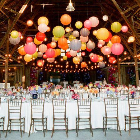 Decora tu boda con farolillos de papel