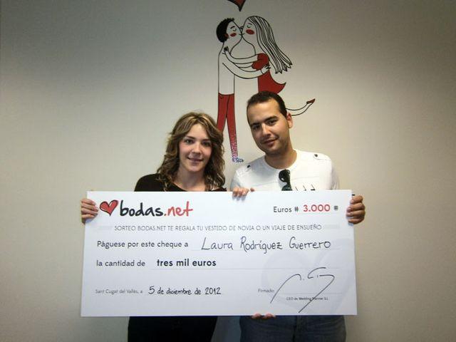 Los tres primeros ganadores del sorteo de Bodas.net
