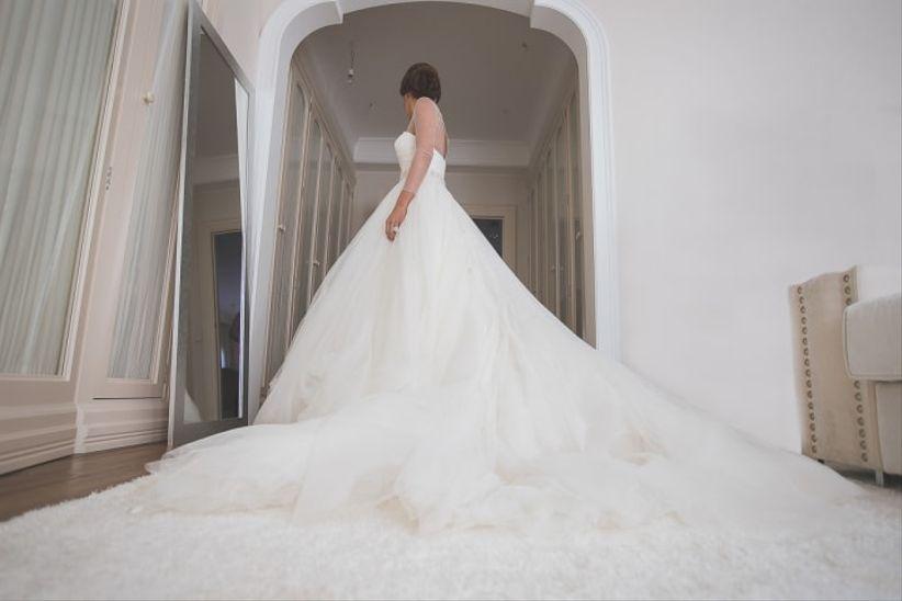 tipos de cola en el vestido de novia