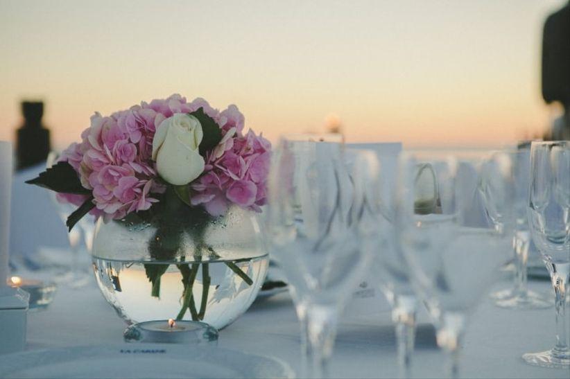 28 centros de mesa con flores