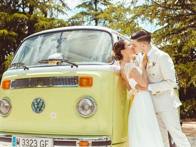 El gran día de Marta y Gonzalo: amor y felicidad bañados en amarillo