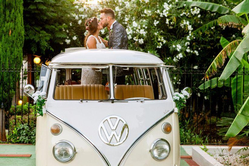 2 styles - 1 mariée : La voiture 2
