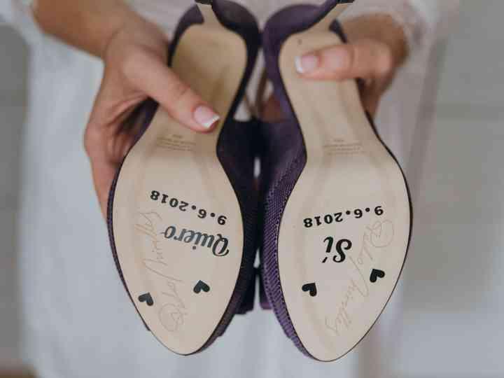 """¿Decorar la suela de los zapatos de novia? """"Sí, quiero"""""""