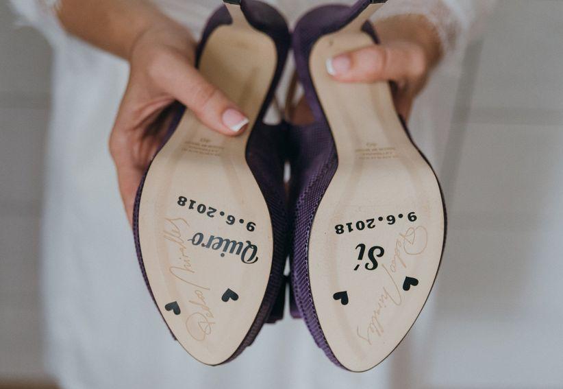 """decorar la suela de los zapatos de novia? """"sí, quiero"""""""