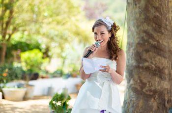 Consejos para escribir el discurso de los novios