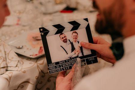 Decoración de boda original: ¡fotos en todas partes!