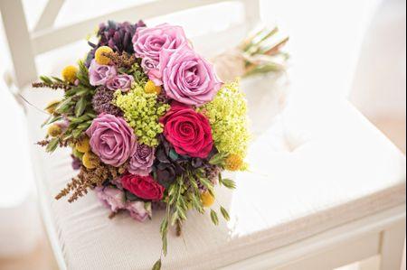 Flores para un ramo de novia en primavera