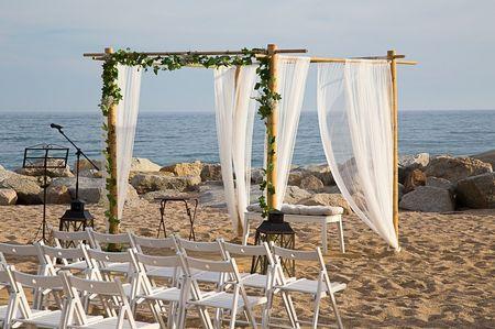 Decoración para bodas en la playa