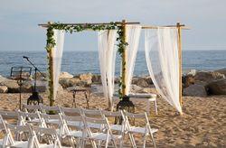 Decoraci�n para bodas en la playa