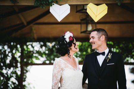 Ideas originales de boda: ¡sí a una decoración con formas geométricas!