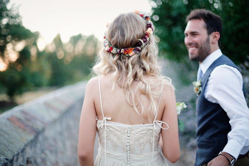 14 coronas de flores para las novias más románticas