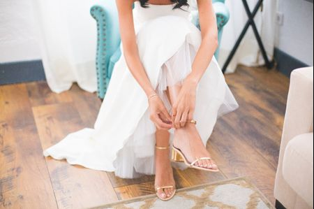 Zapatos de novia cómodos: estilo y confort no están reñidos