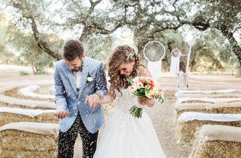 Ideas originales de boda: ¡decorad vuestro enlace con balas de paja!