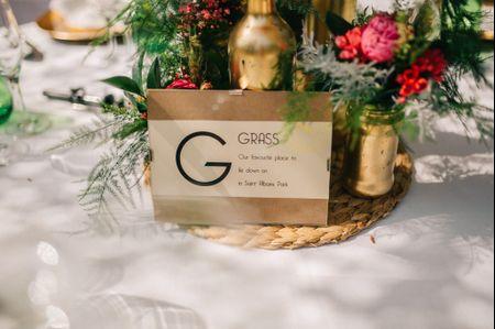 10 ideas originales para nombrar las mesas del banquete