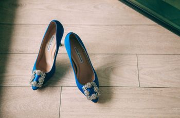 25 zapatos de novia azules: ¡te enamorarán!