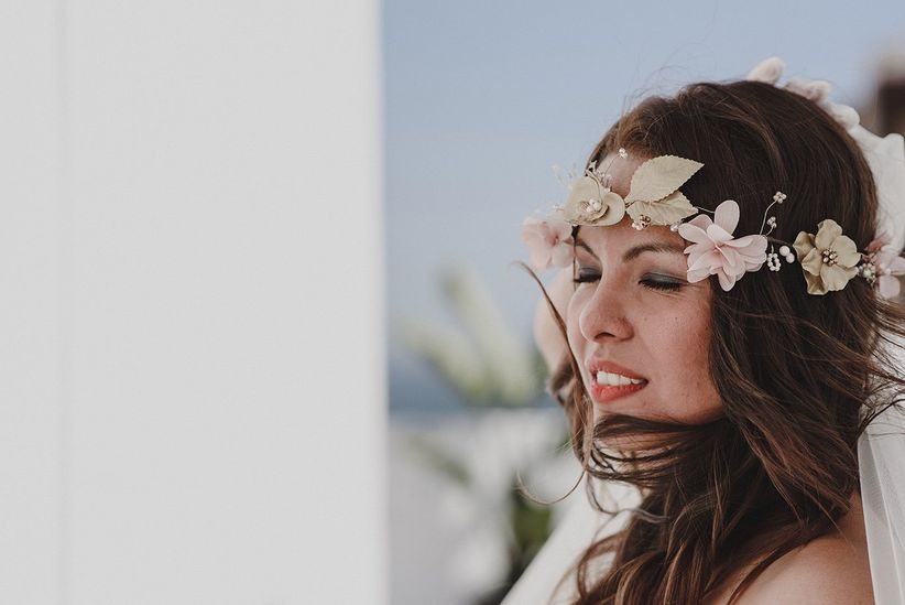 Lo ultimo en peinados de novia peinado de novia estilo boho foto hurtienne photography salem - Lo ultimo en peinados de novia ...