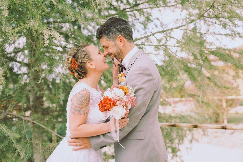 16 formas de poner el toque de color en tu look de novia