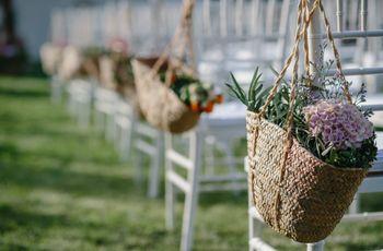 12 ideas fantásticas para decorar los asientos de la ceremonia