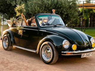 Green Beatle/Mini wedding 4