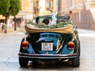 Green Beatle/Mini wedding 6